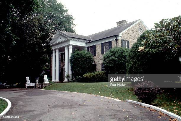 Exterior view of Elvis Presley's home Graceland Memphis Tennessee September 17 1994