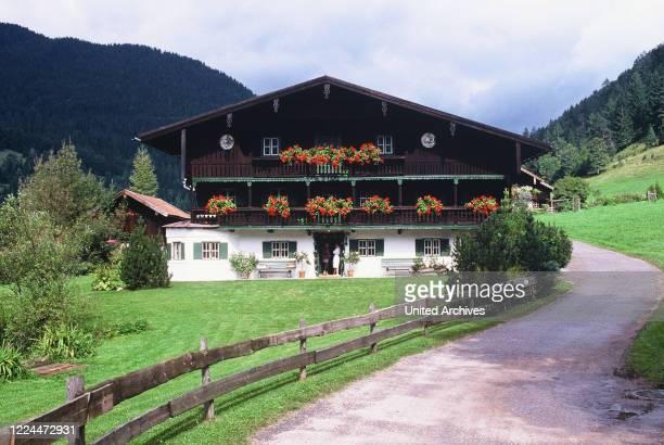 Exterior view of Gunter Sachs Haus in Switzerland, 2000s.