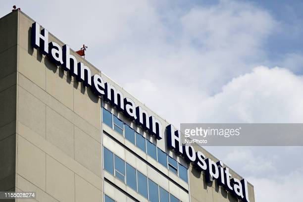 Exterior view of Hahnemann University Hospital in Philadelphia PA on July 10 2019 The struggling Center City located hospital owned by American...