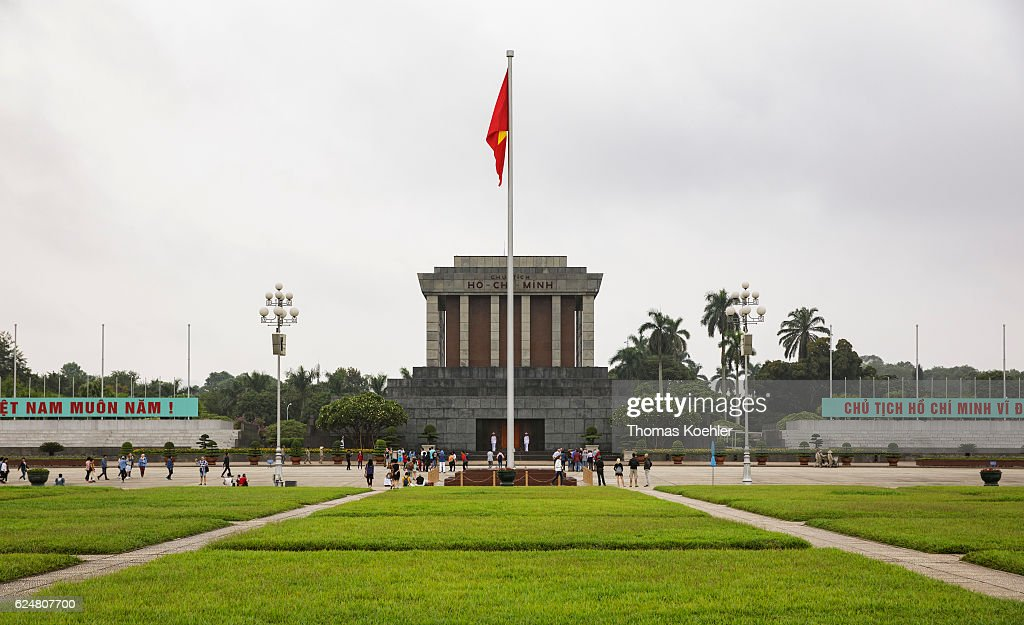 Ho Chi Minh Mausoleum in Hanoi : News Photo