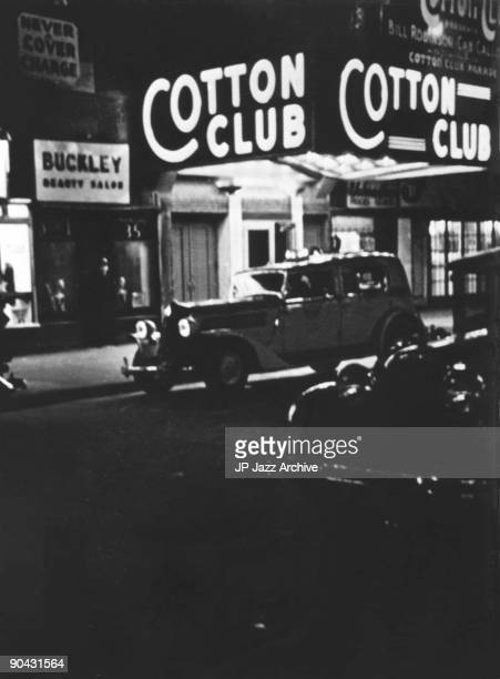Exterior view of jazz venue The Cotton Club in New York c 1938
