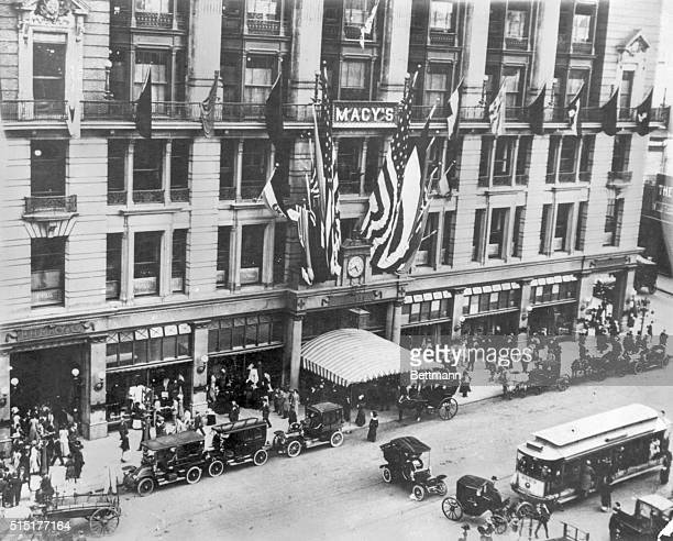 Exterior view of Macy's department store New York City Photograph circa 1910