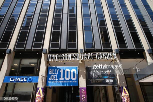 Exterior view of Madison Square Garden as Madison Square Garden celebrates Billy Joel's 100th lifetime show at Madison Square Garden on July 18 2018...