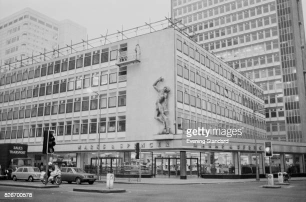 Exterior view of Marks and Spencer store on Edgware Road London 7th February 1978