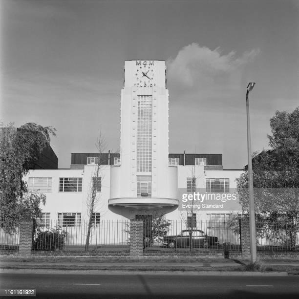 Exterior view of MGM-British Studios, subsidiary of Metro-Goldwyn-Mayer, in Borehamwood, UK, 25th November 1969.