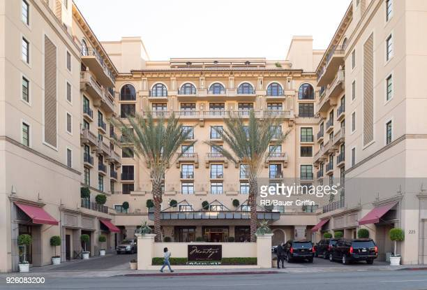 Exterior view of Montage Hotel in Beverly Hills on March 01 2018 in Los Angeles California