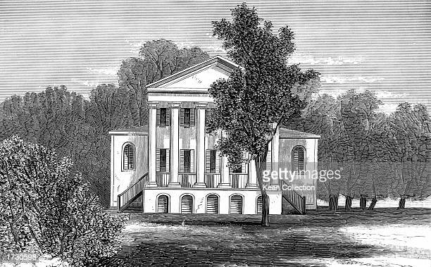 Exterior view of Oak Hill the residence of James Monroe fifth president of the United States Loudoun County Virginia 19th Century