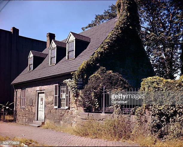 Exterior view of of the historic home of author Edgar Allan Poe Richmond Virginia 1950 Built in 1790 it is the oldest standing house in Richmond