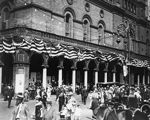 Exterior view of old Madison Square Garden, New York...