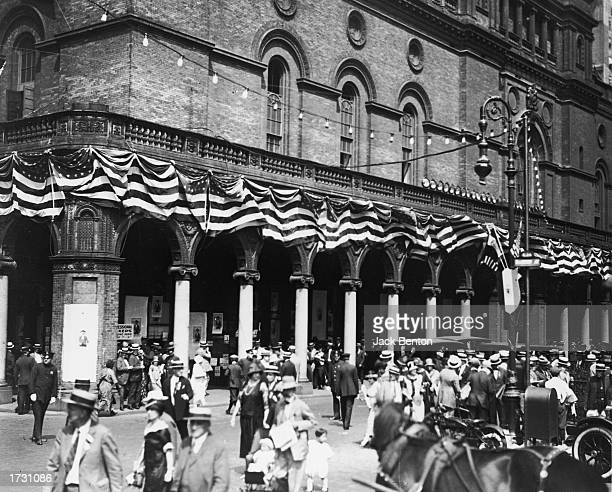 Exterior view of old Madison Square Garden, New York City, 1924.