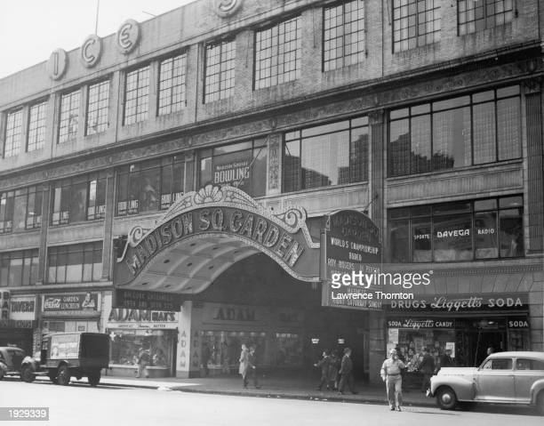 Exterior view of old Madison Square Garden, New York City, New York, circa 1943.