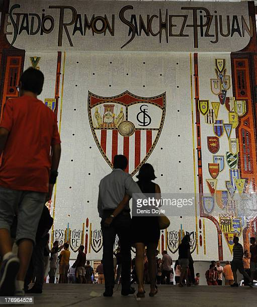 Exterior view of Sevilla FC Estadio Ramon Sanchez Pizjuan before the La Liga match between Sevilla FC and Club Atletico de Madrid on August 18 2013...