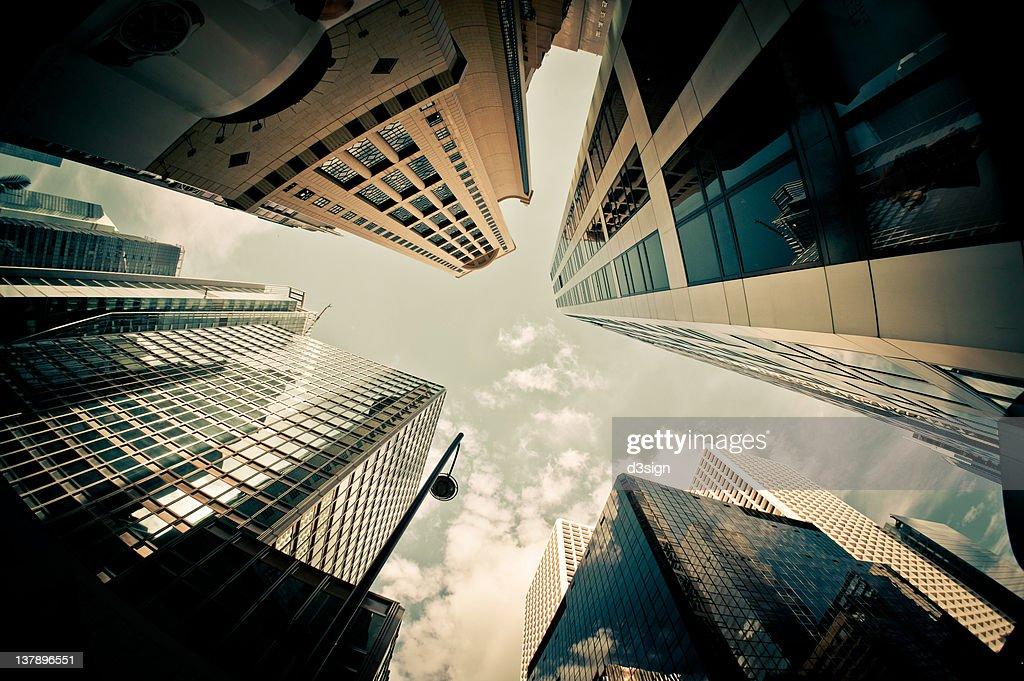 Exterior view of skyscrapers : Bildbanksbilder