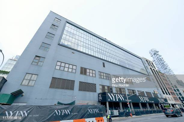 Exterior view of Spring Studios during New York Fashion Week: The Shows at Spring Studios on September 04, 2019 in New York City.