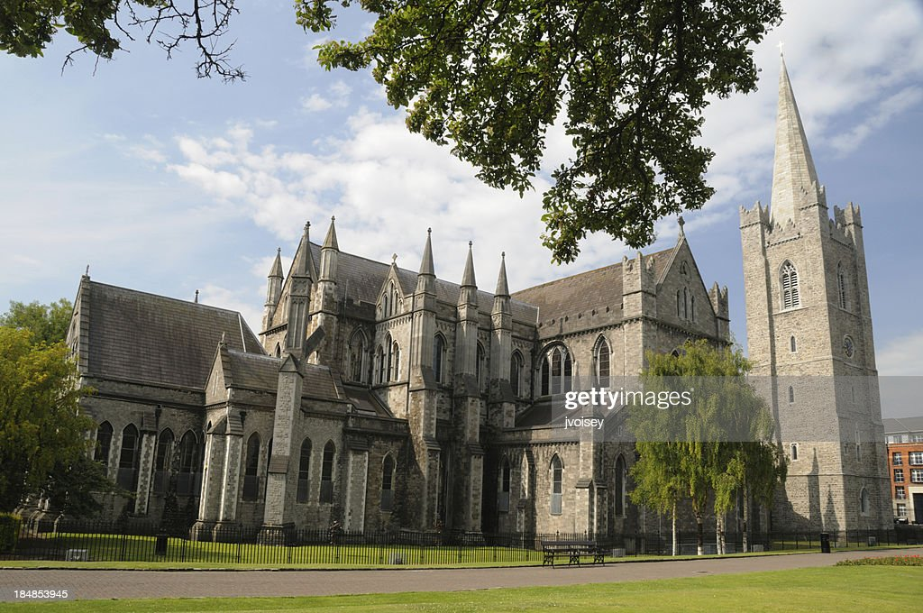Exterior view of St. Patrick's Cathedral in Dublin, Ireland : Stock Photo