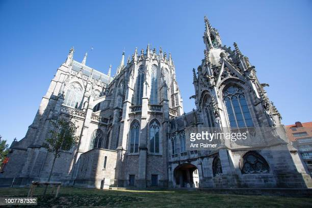 Exterior view of St Peter and Paul Church on July 23 2018 in Ostend Belgium Construction of the church began in 1899 on the site of a previous church...