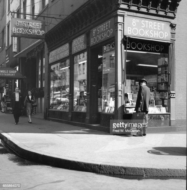 Exterior view of the 8th Street Bookshop New York New York May 16 1959