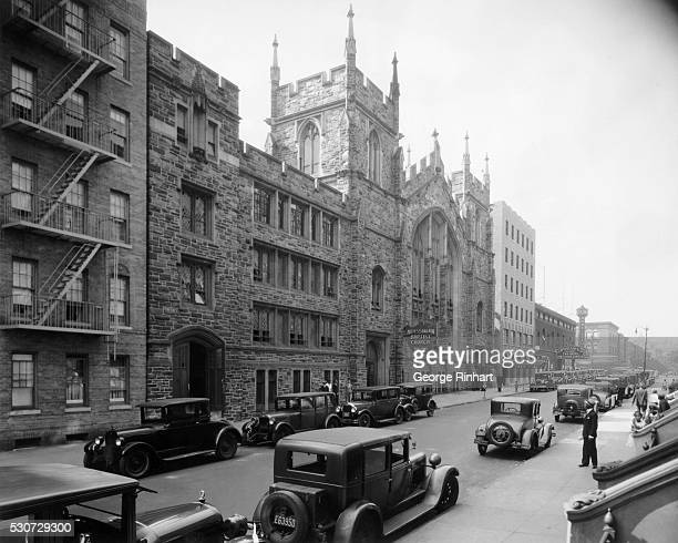 Exterior view of the Abyssinian Baptist Church in New York City Adam Clayton Powell Jr served as senior pastor until 1970 Photo circa 1923