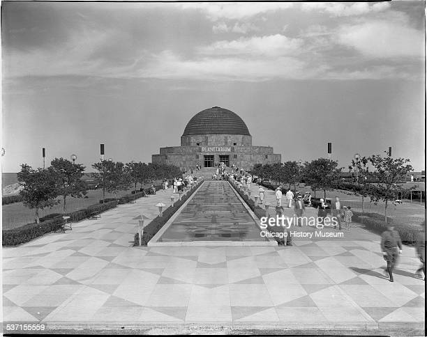 Exterior view of the Adler Planetarium and surrounding grounds Chicago Illinois 1933