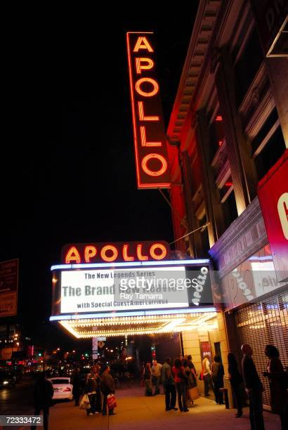 Exterior view of the Apollo Theater's marquee as seen at the Brand New Heavies concert on October 31, 2006 in New York City.