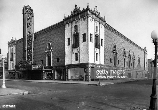 Exterior view of the Aragon Ballroom located at 1106 W Lawrence Avenue in Chicago's Uptown section ca1930s The ballroom opened in 1926 and quickly...