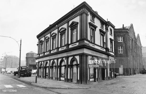 Exterior view of the Baltic Fleet public house one of the few remaining old time seamen's pubs on the south dock road in Liverpool Merseyside Picture...