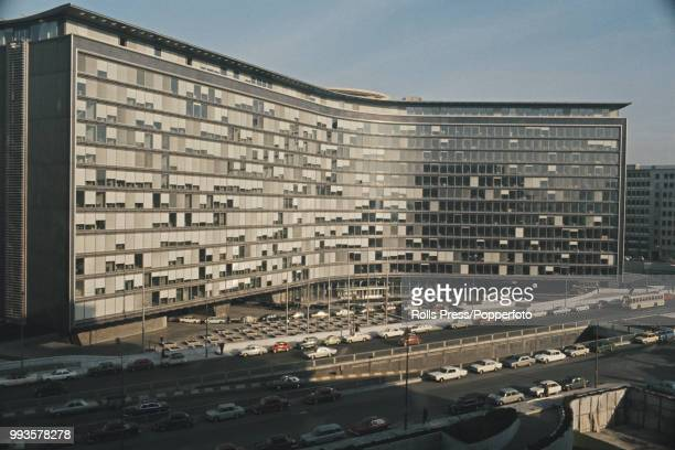 Exterior view of the Berlaymont Building, headquarters of the Common Market, later known as the European Commission, in Brussels, Belgium in 1971.