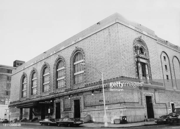 Exterior view of the Brooklyn Academy of Music, a performing arts venue on Lafayette Avenue in the Brooklyn borough of New York City, New York, 1sy...