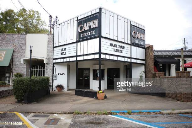 Exterior view of The Capri Theatre in Old Cloverdale sits empty due to the spread of coronavirus on March 22, 2020 in Montgomery, Alabama. The Capri,...