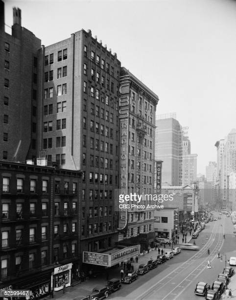 Exterior view of the CBS Radio Theatre later renamed the Ed Sullivan Theater located between between West 53rd and 54th Streets at Broadway New York...