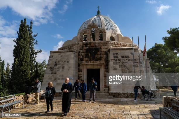 Exterior view of the Chapel of the Field of the Shepherds or Sanctuary of Gloria in excelsis Deo is the name that receives a religious building of...