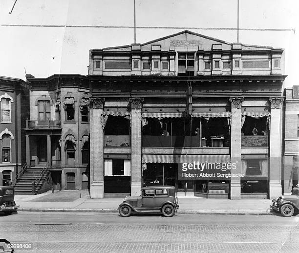 Exterior view of the Chicago Defender building located on 3435 South Indiana Avenue in Chicago IL 1935