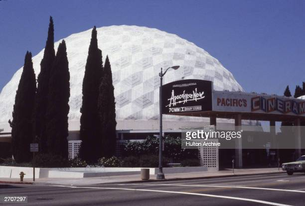 Exterior view of the Cinerama Dome movie theatre in Hollywood California June 1981