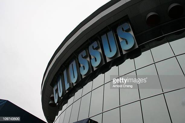Exterior view of the Colossus movie theatre in the Willoughby neighbourhood of Langley, British Columbia.
