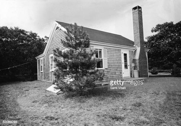 Exterior view of the cottage where American Senator Ted Kennedy and friends held a party on the evening of July 18 after which Kennedy was involved...