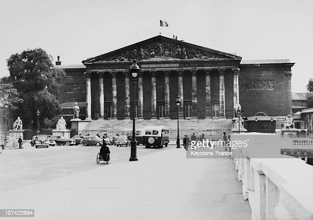 Exterior View Of The Deputies Chamber Palais Bourbon In Paris On 1951
