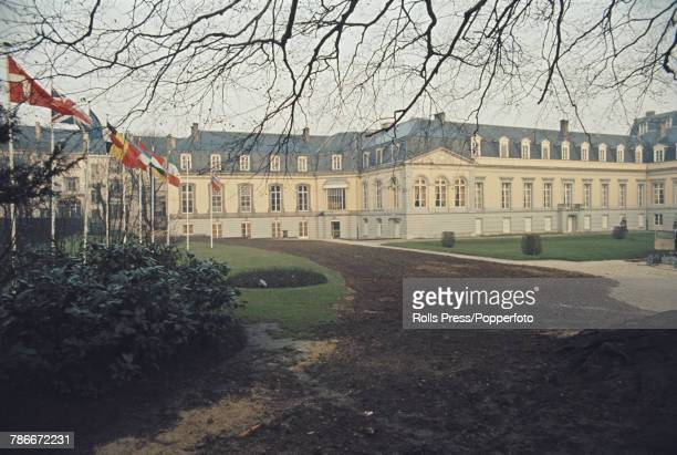 Exterior view of the Egmont Palace host venue for the signing of the accession treaty for Denmark Norway Ireland and the United Kingdom to join the...