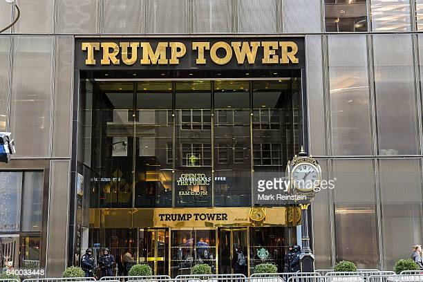 Exterior view of the entrance to Trump Tower New York New York January 10 2017