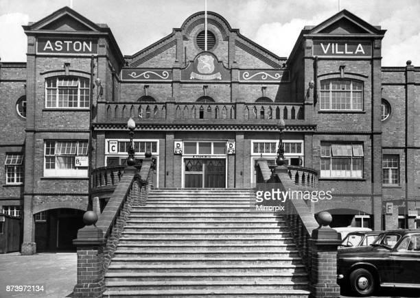 Exterior view of the entrance to Villa Park football stadium home to Aston Villa Football Club Birmingham West Midlands 1st August 1969
