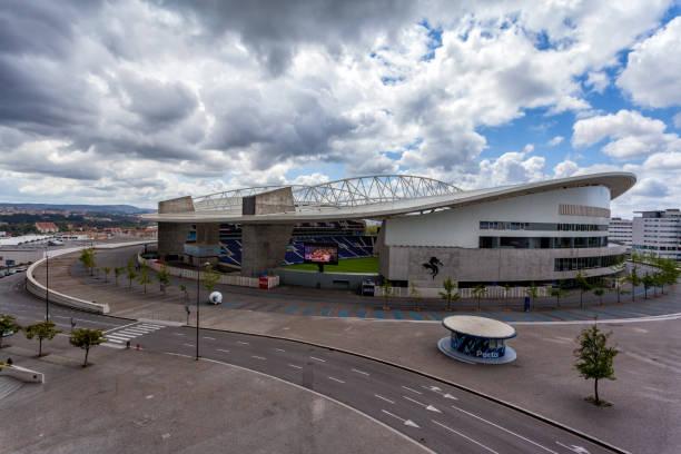OPORTO, PORTUGAL MAY - 18, 2013 : Exterior view of the Estadio do Dragao on May 18, 2013. Estadio do Dragao is the home base of the football team FC Porto. Porto