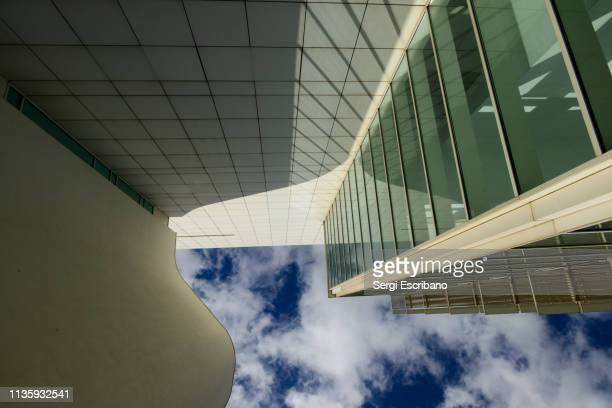 Exterior view of the facade of the MACBA (Museu d'Art Contemporani de Barcelona)