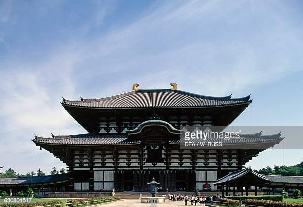 Exterior view of the Great Buddha hall Todaiji temple Nara Kansai Japan 8th century