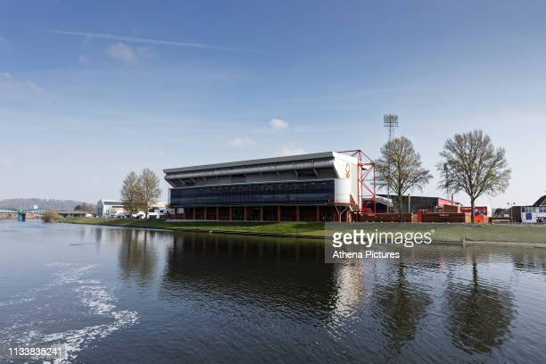 Exterior view of the ground prior to the Sky Bet Championship match between Nottingham Forest and Swansea City at City Ground on March 30, 2019 in...