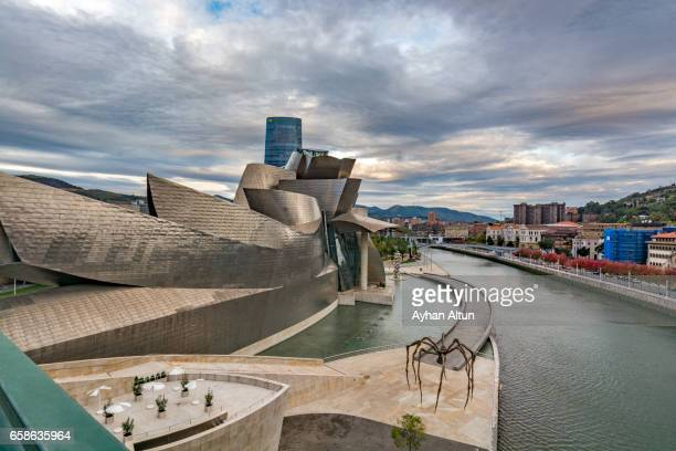 Exterior view of The Guggenheim Museum and Nervion river,Basque Country,Spain