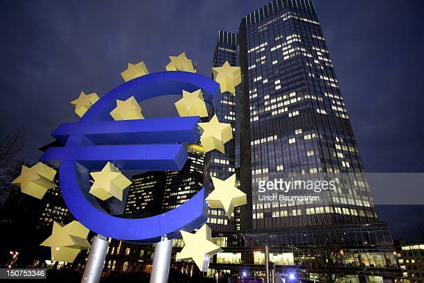 MAIN Exterior view of the headquarters of the ECB European central bank in Frankfurt Main