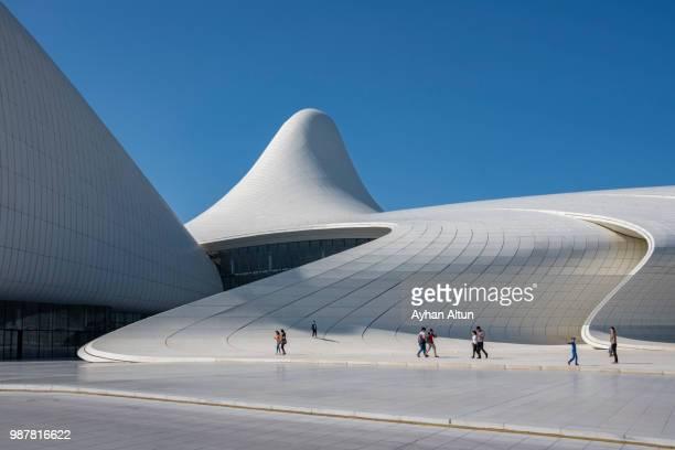 Exterior view of The Heydar Aliyev Center in Baku,Azerbaijan