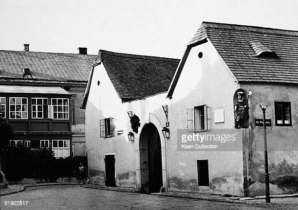 Exterior view of the home of German composer Ludwig van Beethoven in Heiligenstadt Austria mid 1900s Beethoven first moved there in April 1802 and...