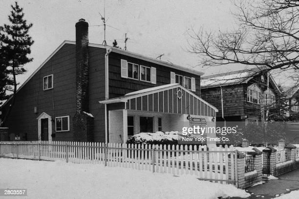Exterior view of the home of New York mob boss John Gotti Howard Beach Queens New York Febraury 9 1986