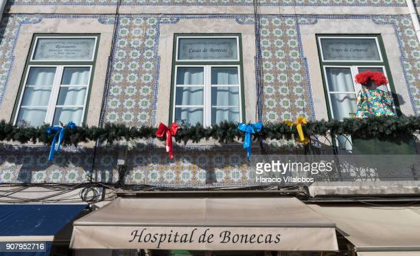 Exterior view of the 'Hospital de Bonecas' in Praca da Figueira on January 18 2018 in Lisbon Portugal Started in 1830 by Dona Carlota an old lady...