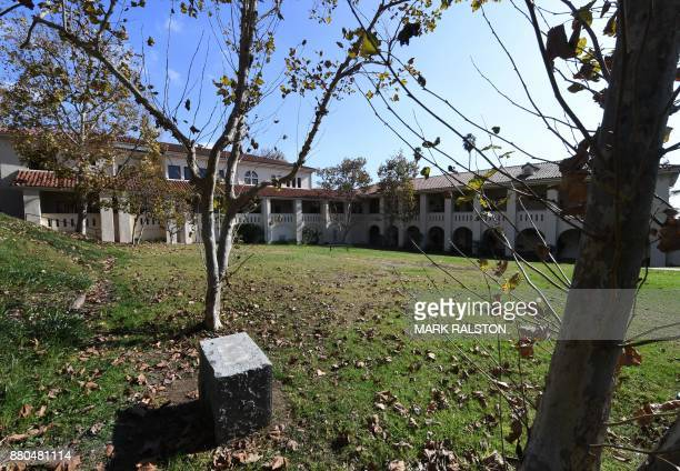 Exterior view of the Immaculate Heart High School in Hollywood California where actress Meghan Markle was educated as Prince Harry and Markle...